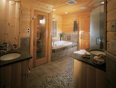 bathrooms with saunas | bathroom with sauna