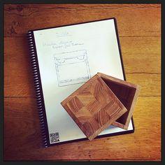 Ontwerpen / vormgeven van de houten verpakking voor de #SVVK armbanden... @EGthout gaat ze in gelimiteerde oplage maken. :-) #myview #design #relaxation