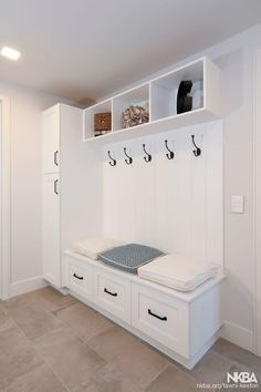 Wonderful Job with the Custom Cabinetry we did in this Gorgeous Laguna Beach Home! Mudroom Laundry Room, Laundry Room Remodel, Laundry Room Design, Home Room Design, Bench Mudroom, Small Mudroom Ideas, Entry Closet, Home Entrance Decor, Laundry Room Inspiration