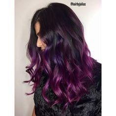 * Formula/ Fall Trend >>> Rich Purple Balayage >>>