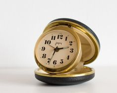 French Travel Alarm Clock Japy Pocket Clock by TheThingsThatWere, $42.00