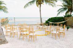 beach wedding ceremony chairs in a circle / photo: bobcareweddings.com  #Florida Keys Weddings #Islamorada Weddings