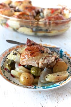White Wine and Lemon Roasted Chicken