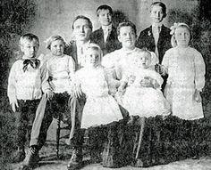 1890s prairie children | Louis Peter Petersen, Anna Majoros, and children