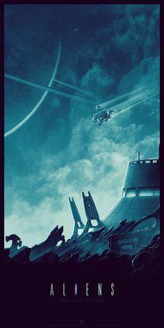 Aliens by Matt Ferguson - Home of the Alternative Movie Poster -AMP- Alien Films, Aliens Movie, Arte Alien, Alien Art, Best Movie Posters, Movie Poster Art, Science Fiction, Sci Fi Movies, Horror Movies