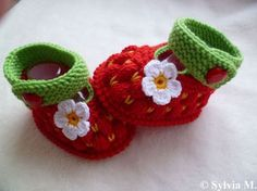 Babyschuhe Babysocken Erdbeerschuhe 9,5 cm