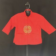 94c1974996d Vintage Traditional Chinese Shirt Child Size 4 Red Frog Buttons Mandarin  Collar #Holiday Chinese Shirt