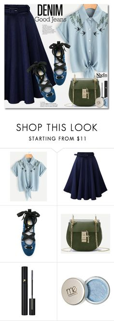 """""""Untitled #2716"""" by svijetlana ❤ liked on Polyvore featuring WithChic, MSGM and Lancôme"""