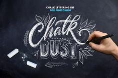 Chalk Dust - Photoshop Lettering Kit by Ian Barnard