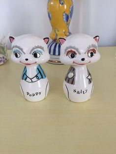 Holt Howard Racoon shakers  A rare find by ShakeAndPassTheSalt