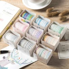 3 Washi Tape Set Marshmallow Colours Pink Brown Peach