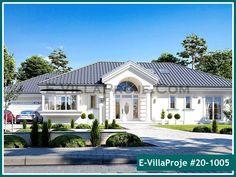 Zdjęcie projektu Willa Parkowa 6 in 2020 Modern Bungalow Exterior, Modern Bungalow House, Bungalow House Plans, House Plans Mansion, My House Plans, One Storey House, House Outside Design, Architectural House Plans, Village House Design