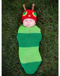 Baby Crochet Cocoon Caterpillar Costume - Party City