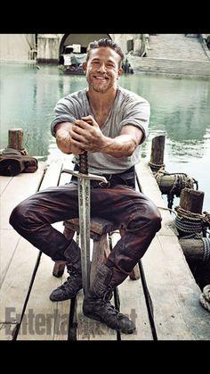 "Charlie Hunnam is ""King Arthur"".....Jax I miss you!!"