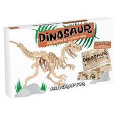 Naturel Velociraptor Construction Kit Professor Puzzle Children- A large selection of Toys and Hobbies on Smallable, the Family Concept Store - More than Unusual Christmas Gifts, Christmas Gifts For Boys, Unusual Gifts, Gifts For Kids, Velociraptor Dinosaur, Dinosaur Facts, Popular Kids Toys, Hobby Kits, Cheap Toys