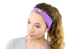 Serene Headbands - Womens Headbands for Sports, Yoga, Fashion & Exercise - Amazing Colors for Awesome Style - High Quality Material for Superior Comfort (Purple) U-Are