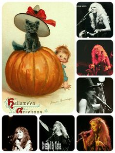 Happy Halloween. Stevie Nicks Collage Created By Tisha 10/25/15