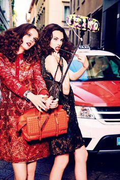 Anna Grostina and Vittoria Ceretti by Ellen von Unwerth for Vogue Japan September 2015