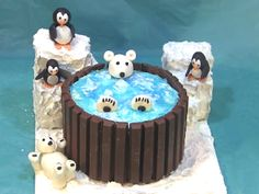 Polar Bear Hot Tub Cake Arctic themed hot tub cake. I did this cake in honor of my father who passed away a few years ago. He loved polar...