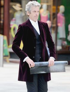 Doctor who doctor velvet coat ON SALE , the latest collection of Peter Capaldi coat. Doctor who Burgundy Velvet jacket for fans at Reasonable Price.