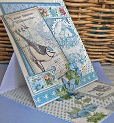 Easel Card with the gorgeous Botanical Tea papers