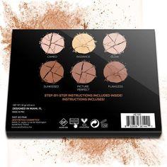 Aesthetica Cosmetics Powder Contour Kit Highlighting Bronzers Makeup High…