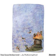 Fairy house kitchen towel - purple