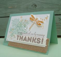 DaisyFlower: Thanks - one tiny word with one big meaning. Stampin up awesomely artistic