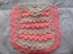 dolls layers of lace pram blanket...