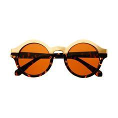 Sleek Two Tone Retro Style Women Round Sunglasses Shades R59