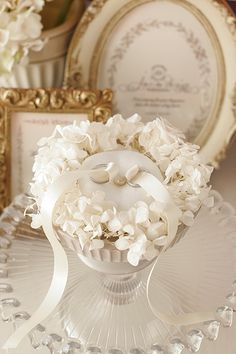 リングピロー Ring Bearer Pillows, Ring Pillows, Ring Holder Wedding, Ring Pillow Wedding, Elegant Wedding, Diy Wedding, Dream Wedding, Desi Wedding Dresses, Wedding Plates
