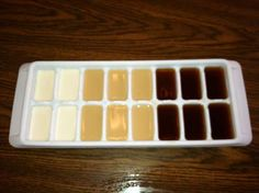 ice cubes made of creamer or flavor shots to cool your coffee without watering it down