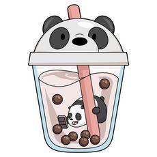 We Bare Bears Wallpapers, Panda Wallpapers, Cute Cartoon Wallpapers, Tea Wallpaper, Cute Panda Wallpaper, Cute Animal Drawings Kawaii, Cute Cartoon Drawings, Bear Drink, Easy Disney Drawings