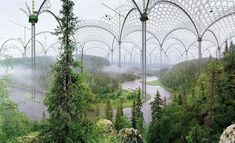 Museum of Nature, by Ilkka Halso, set in the distant future on Earth. Helsinki, Natural Form Art, Science Illustration, Unique Gardens, School Photos, True Nature, Through The Looking Glass, Land Art, Landscape Architecture