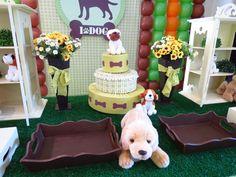Farolita Decoração de Festas Infantis: cachorrinhos menino