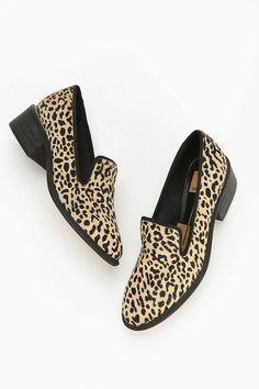 Dolce Vita Ceegan Leopard Print Heeled Loafer