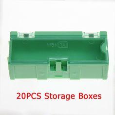 20 unids Verde SMT SMD Kit Laboratorio antiestático envío libre de Caja de Herramientas Cajas de Almacenamiento de Componentes Electrónicos