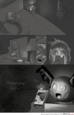Omg. Imagine this happening to you, and some kind of creepy Pokemon is just staring at you... I'm terrified now xD.