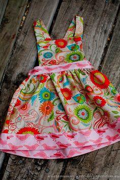 """""""Birdie Pinafore"""" Baby or toddler dress / pinafore"""
