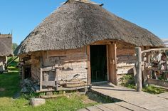 Wolin Handicraft gallery photo 12 by Wikingowie on DeviantArt Fantasy Village, Medieval, Thatched Roof, Round House, Historical Architecture, Bushcraft, Handicraft, Gazebo, Woodland