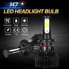 Pair H7 CREE LED Headlight Conversion Kit 640W 76800LM Lamp Bulb Low beam 6000K