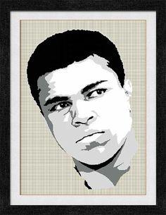 """Gráfico para punato de cruz de """"Muhammad Ali - Cassius Clay""""."""