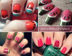 delicious watermelon nails