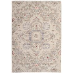Bungalow Rose Chauncey Light Gray Area Rug Rug Size: Square 6'