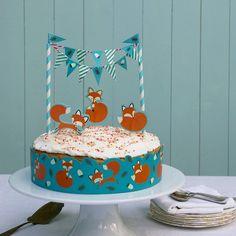 Décoration gateau anniversaire Rusty le Renard