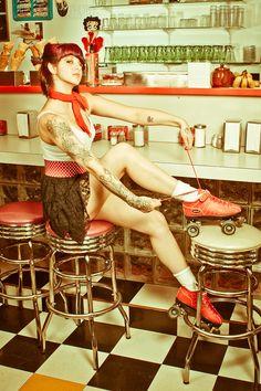 pinup roller skates by Orkslasher.deviantart.com on @deviantART