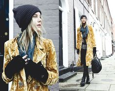 Poundland Beanie, Koshka Coat, From Nepal Top, Miu Miu Bag, Guess? Jeans, Opening Ceremony Boots