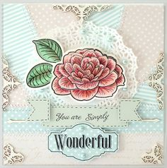 Artisant: Flower Show using Camelia stamp set from Waltzingmouse Stamps- quick link here - http://www.waltzingmousestamps.com/products/camellia #card #handmadecard #stamping #wms #waltzingmouse