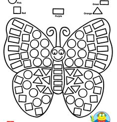 Practice identifying shapes while coloring in a beautiful butterfly printable! Looking for more opportunities to work with shapes? Check out our Alex Toys Ready Preschool Learning, Kindergarten Worksheets, Preschool Activities, Teaching Kids, Alex Toys, Math Centers, Printable Butterfly, Coloring Worksheets, Free Coloring Pages