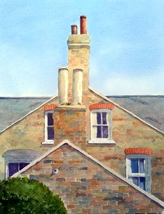 Peter Robinson, Watercolor Paintings, Cabin, Mansions, House Styles, Walls, Home Decor, Decoration Home, Water Colors